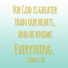 greater than our hearts
