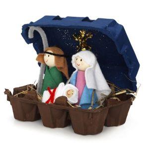 nativity egg crate