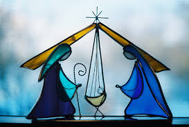 stained glass manger