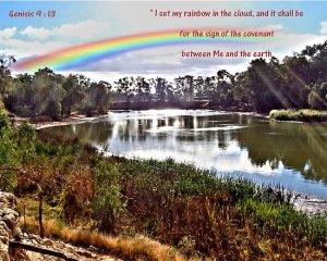 rainbow in cloud