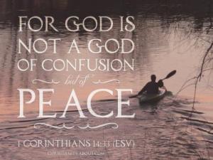 1 Corinthians 14 33